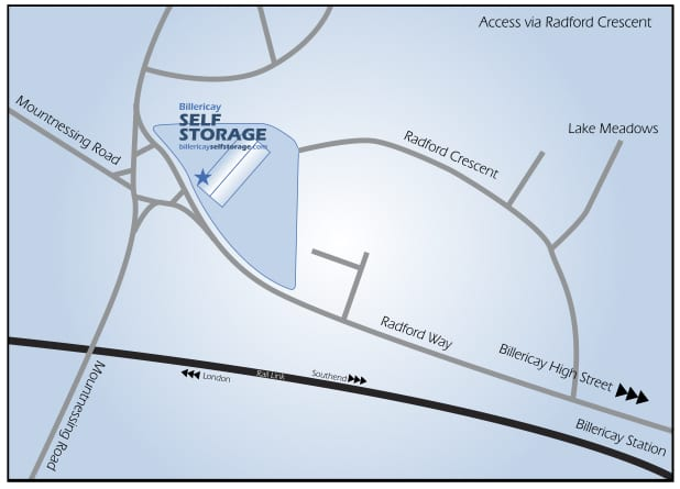 Self Storage Map
